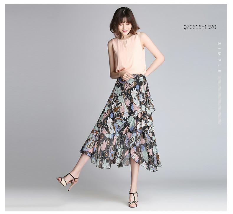 q706161520半身裙一片式系带下身长裙,郑州博克贠永鑫,郑州博克服装